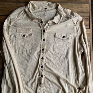 Free People Button Shirt Large Pockets